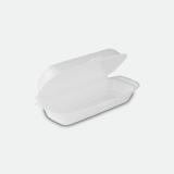 Hot-Dog-Box aus XPS. 21 x 10 x 6 cm, weiß