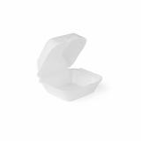 Burger-Box aus XPS, 21,5 x 21 x 10,5 cm, weiß