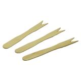 Pommes-Gabeln aus Holz, 8,5 cm, braun