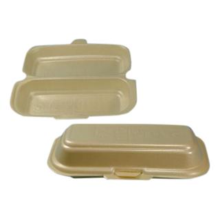 Hot-Dog-Box aus XPS, 21 x 9 x 6 cm, beige