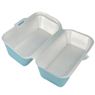 Menü-Box aus XPS, 21,5 x 12,5 x 6,5 cm, weiß