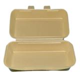 Baguette Box aus XPS, 28,5 x 14 x 6,5 cm, beige