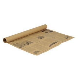 Einschlagpapier, zuschnitte, Zeitungsoptik, 50 x 37,5 cm