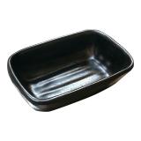 Soßen-Behälter aus Melamin, schwarz, 10 x 7 x...
