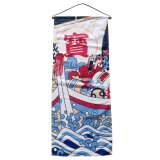 "Textil-Bild ""Japan 1"" , 35 x 85 cm"