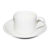 Kaffeetasse mit Unterteller, weiß