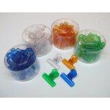 Verschlussklammern in 4 Farben