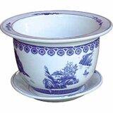 China Porzellan Blumentopf Blau-Weiß mit...
