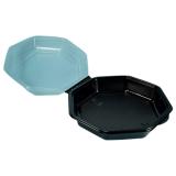 Octaview-Boxen mit Deckel, 680 ml, 19 x 19 x 6 cm, schwarz
