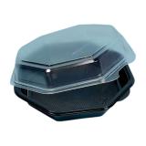 Octaview-Boxen mit Deckel, 887 ml, 19 x 19 x 8 cm, schwarz