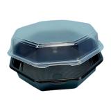 Octaview-Boxen mit Deckel, 1065 ml, 23 x 23 x 5 cm, schwarz