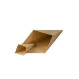 Pommestüte aus Karton, mit Dip-Ecke, kraftbraun, 19 cm