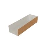 Baguette-Schale aus Karton, 25 x 8 x 5 cm, kraftbraun