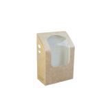 Wrap- und Tortilla Box mit PLA-Sichtfenster, 13,5 x 9,5...