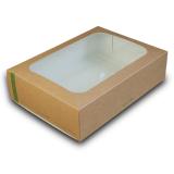 Sandwich-Box aus Biopapier, mit CPLA Fenster, 45 x 31 x 8...