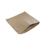 Snackbeutel aus Papier, 25,5 x 25,5 cm, kraftbraun
