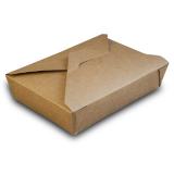Food-Box aus Karton, 1500 ml, 19,5 x 14 x 5 cm, kraftbraun