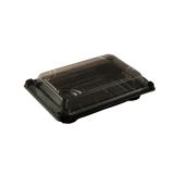 Bio-PLA-Sushibox mit Deckel, 17,5 x 12,5 x 4 cm, schwarz