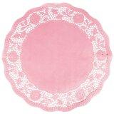 Tortenspitzen, rund, rosa, Ø 35 cm