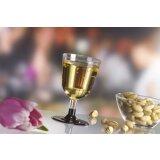 Einweg-Weingläser aus PS, Oberteil, transparent, 100...
