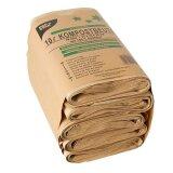 Kompostbeutel aus Papier, Braun, 21 x 35 cm, 10 Liter