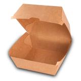 Burger-Box aus Karton, 14,5 x 14,5 x 10 cm, kraftbraun
