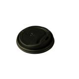 Bio Kaffee-Deckel aus CPLA, schwarz, Ø 8 cm