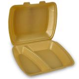 Menüboxen aus XPS, 2-geteilt, gold, 24,5  x 21  x...
