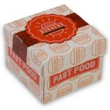 Burgerbox, Faltkarton, 9,5 x 9,5 x 7 cm, Print