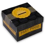 Burgerbox, Faltkarton, 11 x 11 x 7 cm, Print