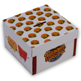 Burgerbox, Faltkarton, 12,5 x 12,5 x 8 cm, Print