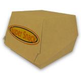 Burgerbox aus Karton mit Klappdeckel, Kraft-Braun, 11,5 x...